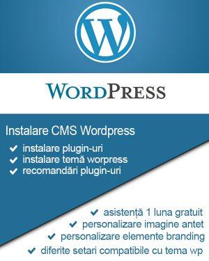 Instalare Wordpress